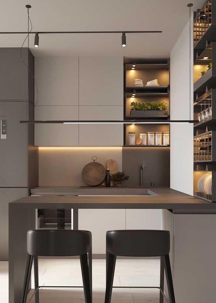Armário de cozinha aéreo: mais espaço de armazenamento