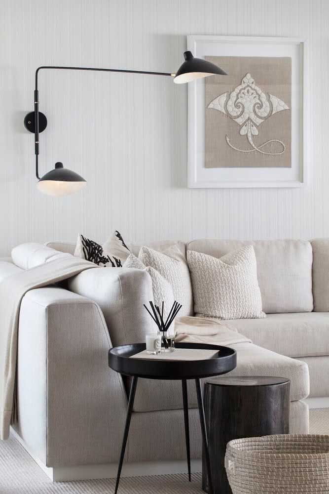 Inspiração de sala nude para quem ama uma decoração moderna e minimalista