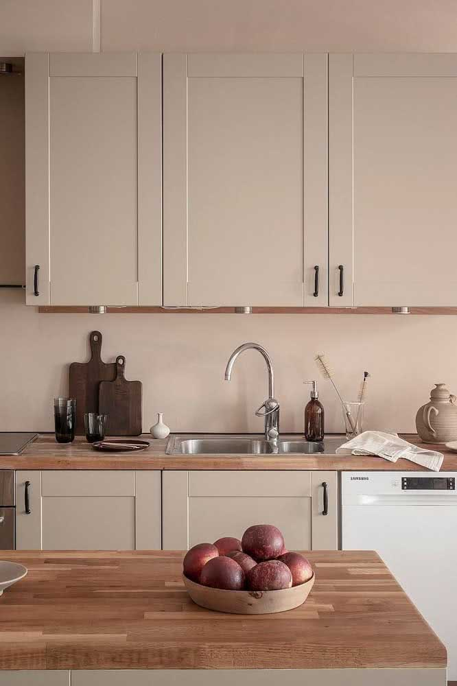 Cozinha nude: aconchegante como deve ser