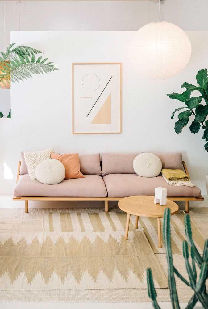 Sala cor nude. A opção certa para quem valoriza uma decoração clean, confortável e moderna